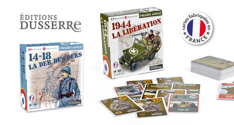 Jeux de cartes historiques Dusserre : La Der des Der et 1944 La Libération