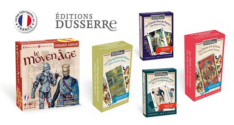 Jeux de cartes historiques et de peinture des Éditions Dusserre