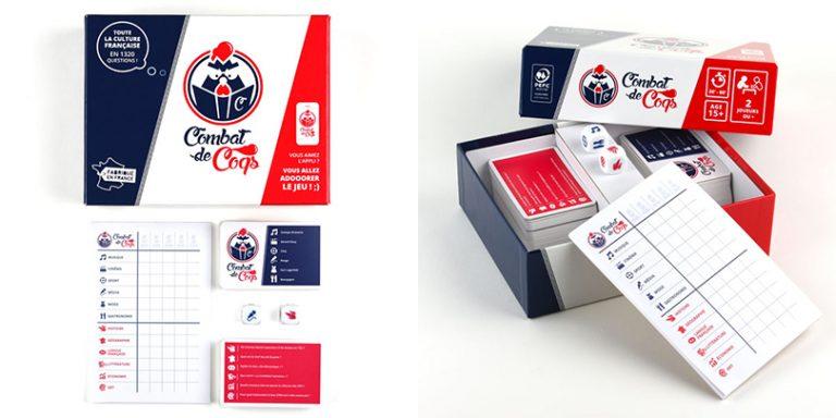 Les jeux de société Combat de Coq sont fabriqués et assemblés par France Cartes à Saint-Max