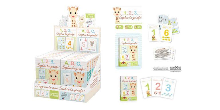 Les jeux de cartes Sophie la Girafe sont fabriqués chez France Cartes