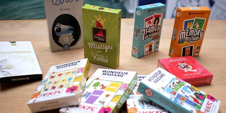 Choisissez un jeu, nous personnalisons les étuis et cartes aux couleurs de votre marque