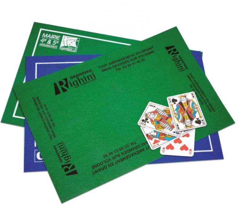 Découvrez tout ce que l'on peut faire pour vous avec des jeux et accessoires de cartes à jouer à l'effigie de votre marque ou entreprise