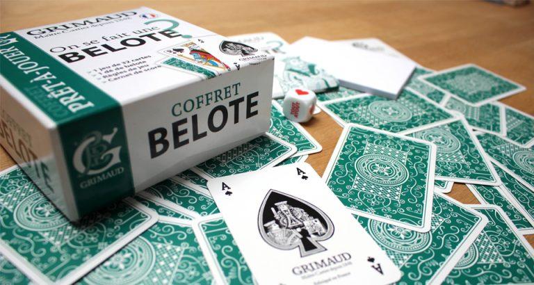 Coffret Grimaud Belote avec tout ce qu'il faut pour jouer