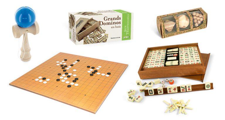 Jeux traditionnels : Kendama, jeu de Go, Mah Jong, Dominos et Casse-tête