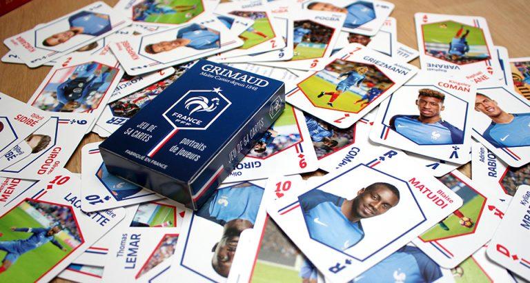 Jeu de cartes Grimaud bleu et FFF