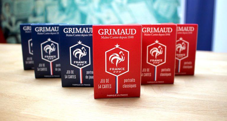Jeux de cartes Grimaud bleus rouges et FFF
