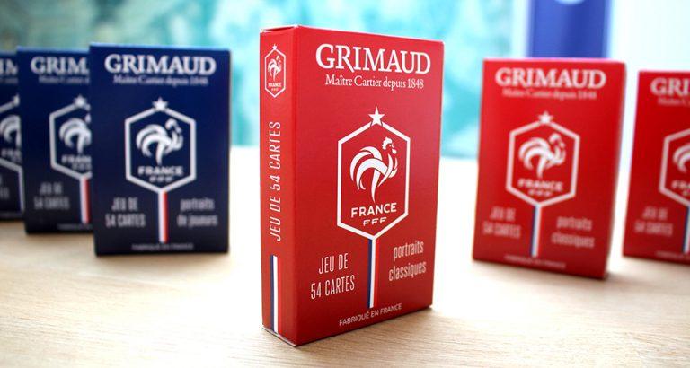 Jeux de cartes Grimaud rouges bleus et FFF