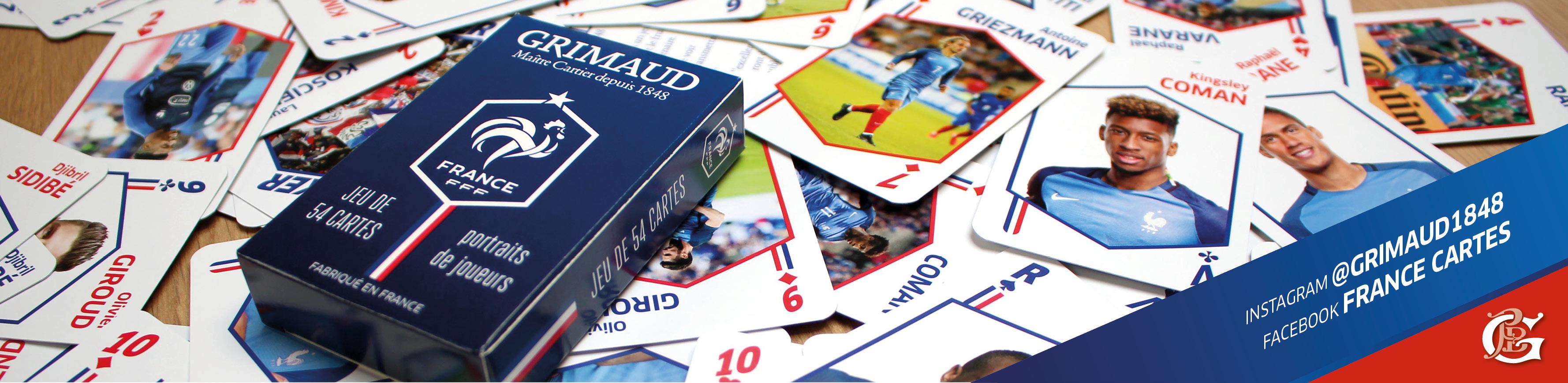 2 jeux de cartes à l'effigie des Bleus